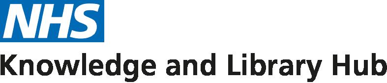 nhs logo, knowledge & library hub